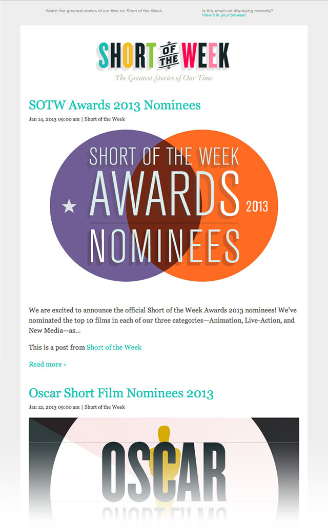 The Weekly Official Short of the Week Email Newsletter ...